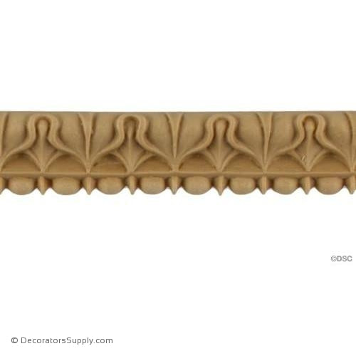 Lambs Tongue-Roman 7/8H - 5/16Relief-moulding-furniture-woodwork-Decorators Supply