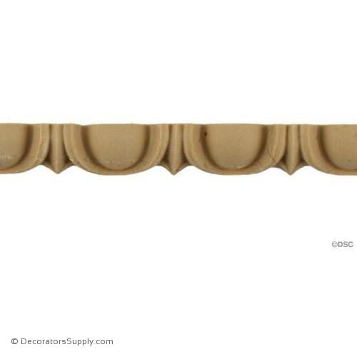 Egg and Dart-Roman 1/2H - 5/16Relief-woodwork-furniture moulding-Decorators Supply