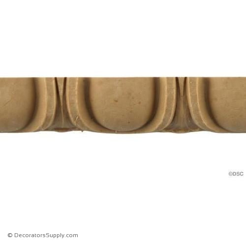 Egg and Dart-Roman 1H - 5/8Relief-woodwork-furniture moulding-Decorators Supply