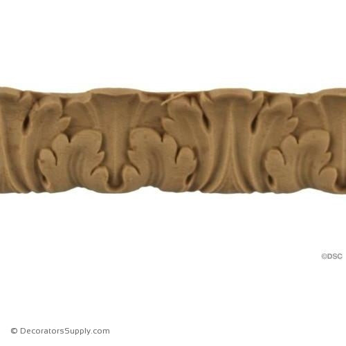 Acanthus Leaf - Ren. 1 1/8H - 7/16Relief-woodwork-furniture-lineal-ornament-Decorators Supply