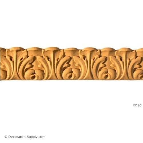 Acanthus Leaf - Italian 1 1/16H - 1Relief-woodwork-furniture-lineal-ornament-Decorators Supply
