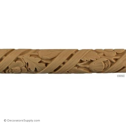 Daisy Linear - Modern 1 7/8H - 3/4Relief-woodwork-furniture-lineal-ornament-Decorators Supply