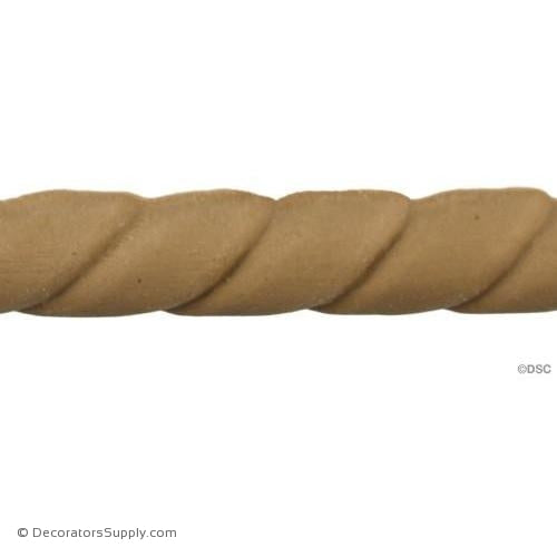 Rope-Spanish 9/16H - 3/8Relief-moulding-for-woodwork-furniture-Decorators Supply