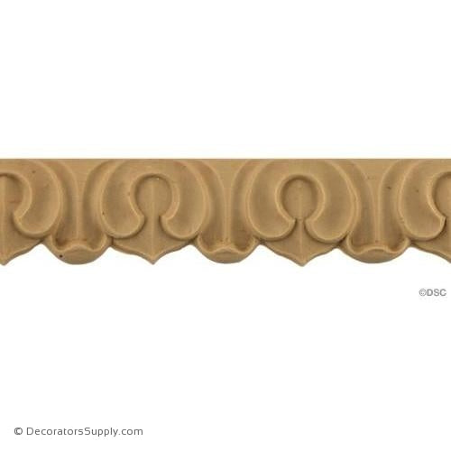 Acanthus Leaf - Roman 1 3/16H - 3/16Relief-woodwork-furniture-lineal-ornament-Decorators Supply