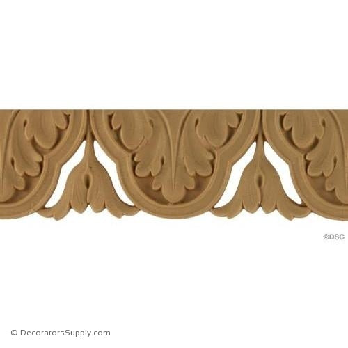 Acanthus Leaf - Ren. 1 3/4H - 3/16Relief-woodwork-furniture-lineal-ornament-Decorators Supply