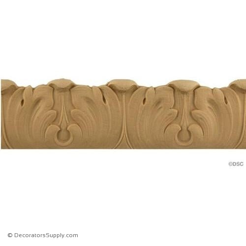 Acanthus Leaf - Ren. 2H - 3/8Relief-woodwork-furniture-lineal-ornament-Decorators Supply