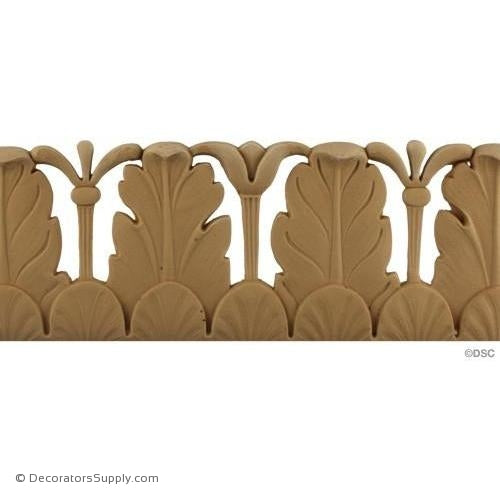 Acanthus Leaf - Italian 4 1/2H - 7/16Relief-woodwork-furniture-lineal-ornament-Decorators Supply