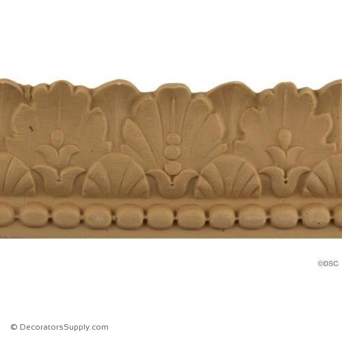 Leaf - Mod. Ren. 2H - 7/8Relief-woodwork-furniture-lineal-ornament-Decorators Supply