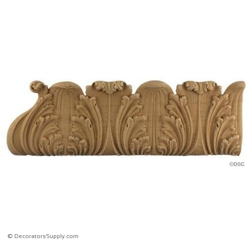 Acanthus Leaf - Ren. 5H - 5/8Relief-woodwork-furniture-lineal-ornament-Decorators Supply
