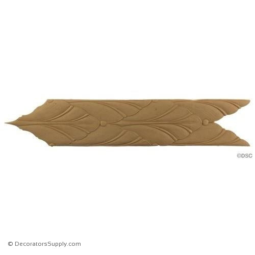 Leaf-Modern 3 1/4H - 1/8Relief-woodwork-furniture-lineal-ornament-Decorators Supply