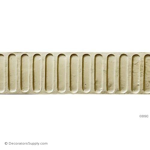 Fluted-Colonial 2H - 1/8Relief-moulding-for-furniture-woodwork-Decorators Supply