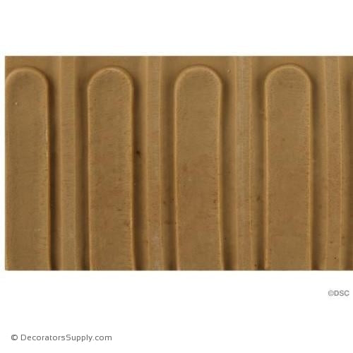 Fluted-Colonial 2 3/8H - 1/4Relief-moulding-for-furniture-woodwork-Decorators Supply