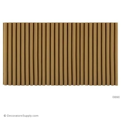 Reeded-Colonial 7 5/8H - 3/8Relief-moulding-for-furniture-woodwork-Decorators Supply