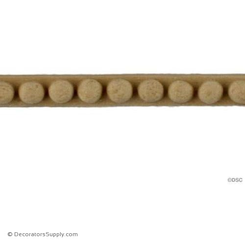 Bead-Ren. 1/4H - 3/16Relief-woodwork-furniture-moulding-Decorators Supply