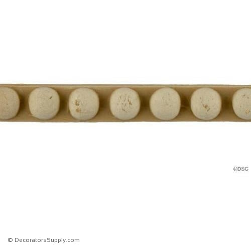 Bead-Ren. 3/8H - 1/4Relief-woodwork-furniture-moulding-Decorators Supply
