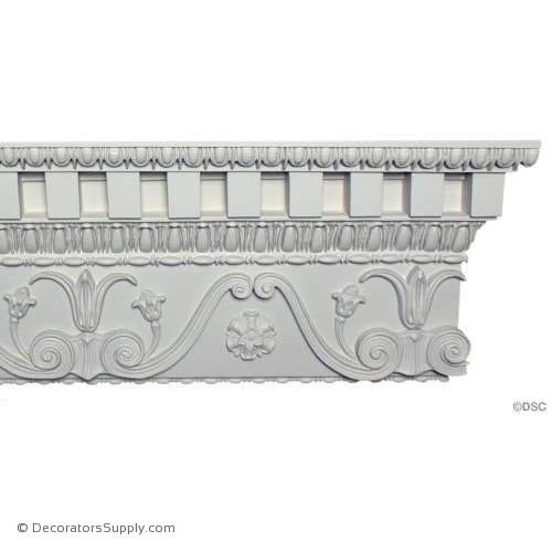 "Plaster Crown-Greek- 2 1/2"" Proj x 10"" Drop-Decorators Supply"