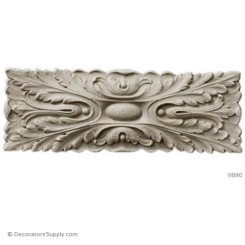 Rosette - Rectangular 4 High 2 Wide-ornaments-for-woodwork-furniture-Decorators Supply