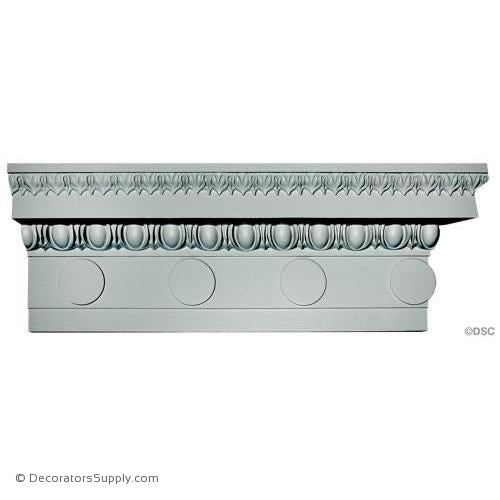 "Plaster Crown-Roman Ionic- 4"" Proj X 9"" Drop. Repeat: 6 3/4""-Decorators Supply"