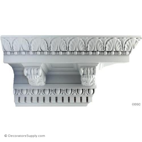 "Plaster Crown-Roman-7 3/4 X 7 3/4 Drop-7 1/2"" Repeat-Decorators Supply"