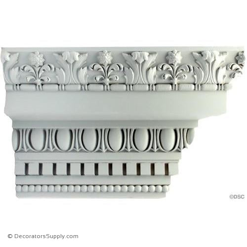 "Plaster Crown-Colonial-6 1/4 Proj X 10 Drop-4 7/8"" Repeat-Decorators Supply"