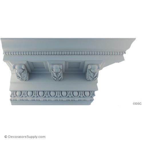 "Plaster Crown-Roman-8"" Proj x 9 1/2"" Drop-6 3/4"" Repeat-Decorators Supply"