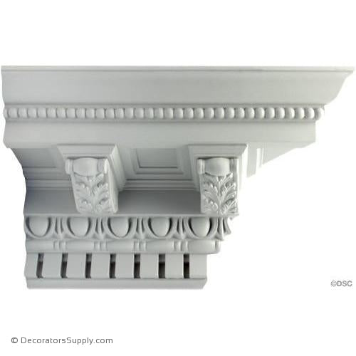 "Plaster Crown-Roman-8 1/2 Proj X 8 1/2 Drop-7"" Repeat-Decorators Supply"