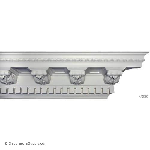 "Plaster Crown-Colonial-9 1/2"" Proj x 10"" Drop-9 5/8"" Repeat-Decorators Supply"