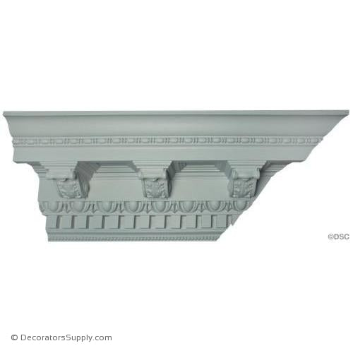 Plaster Crown Moulding Roman Corbels With Coffers  P X  D X  R