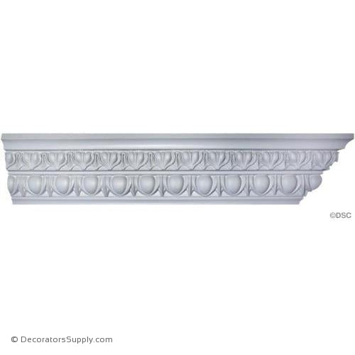 "Plaster Crown-Roman Ionic-4 1/2 Proj X 6 Drop-3"" Repeat-Decorators Supply"