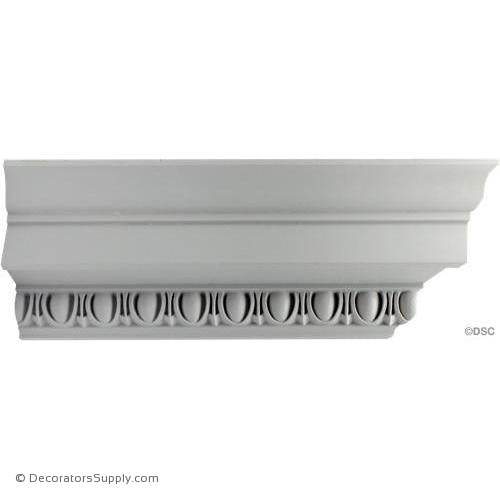 "Plaster Crown Mldg - Roman Ionic - 5"" proj x 4 3/4"" drop-Decorators Supply"