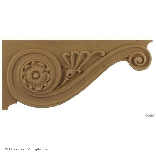 Stair Brackets-Roman 3 3/4H X 8W - 9/32Relief-for-stairs-woodwork-furniture-Decorators Supply