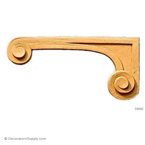Stair Brackets-French 5 1/2H X 2 5/8W - 1/4Relief-for-stairs-woodwork-furniture-Decorators Supply