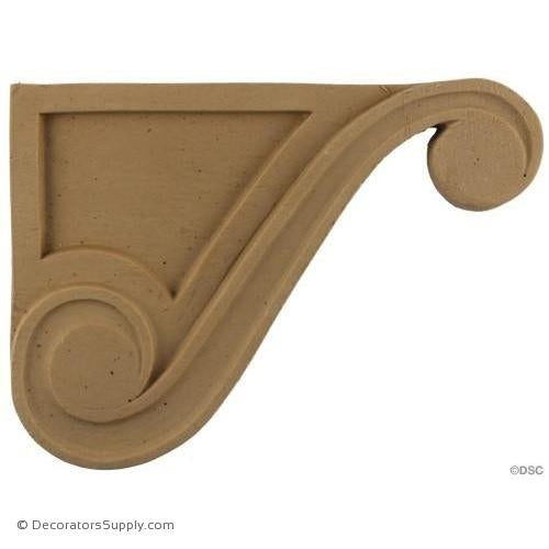 Stair Brackets-Ren. 5 1/8H X 7W - 9/16Relief-for-stairs-woodwork-furniture-Decorators Supply