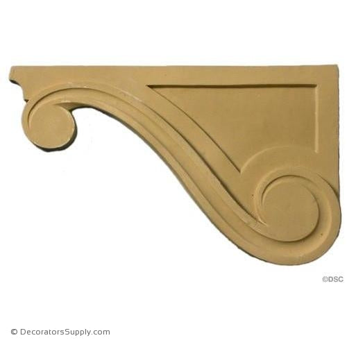 Matched Pair in Pine PN596 Detail Furniture Applique Brackets with Shell /& Leaf