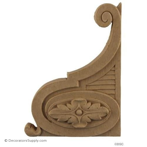 Stair Brackets-Louis XVI 6H X 4 1/4W - 9/16Relief-for-stairs-woodwork-furniture-Decorators Supply