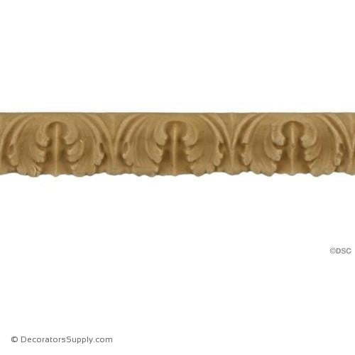 "Lambs Tongue - 3/8"" High x 1/8"" Relief-woodwork-furniture-lineal-ornament-Decorators Supply"