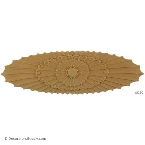 Rosette - Oval    15   1/4 High 4   3/4 Wide 1/4 Relief