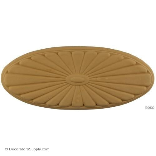 Rosette - Oval    15 High 6   1/4 Wide 1/2 Relief