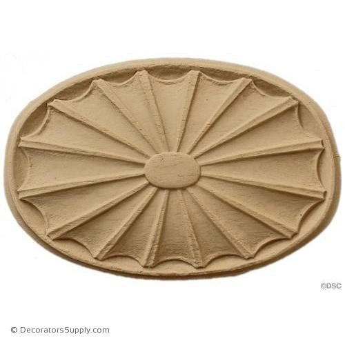 Rosette - Oval    7   1/2 High 4   3/8 Wide 1/2 Relief