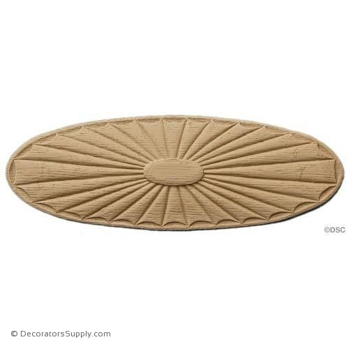 Rosette - Oval    10 High  3 1/2 Wide   1/4 Relief