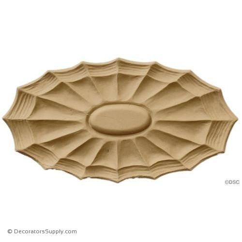 Rosette - Oval    11   1/4 High 6 Wide 1/2 Relief