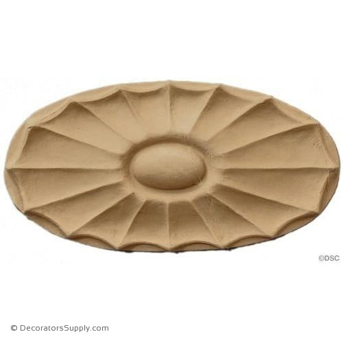 Rosette - Oval    6 High 3   3/16 Wide 3/8 Relief