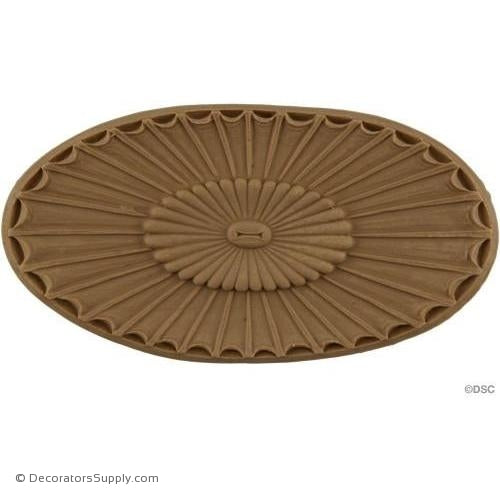 Rosette - Oval    17 High 3   7/8 Wide 1/4 Relief