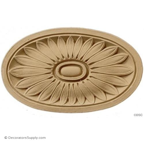 Rosette - Oval    7 High 4   1/8 Wide 3/8 Relief