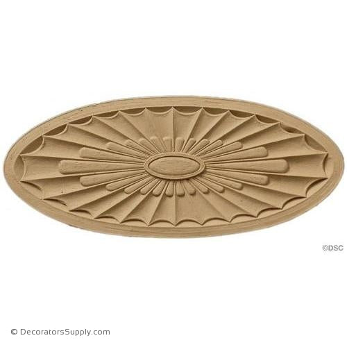 Rosette - Oval    12   1/4 High 5   1/8 Wide 1/4 Relief