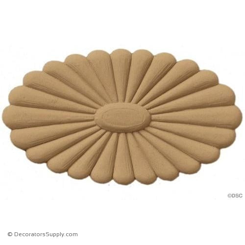 Rosette - Oval    7   3/4 High 4   3/8 Wide 1   1/2 Relief
