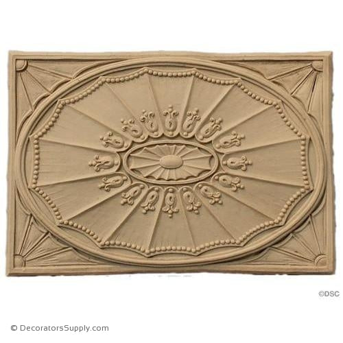 Rosette - 7 1/2 High 5 1/8 Wide 1/4 Relief-ornaments-for-woodwork-furniture-Decorators Supply