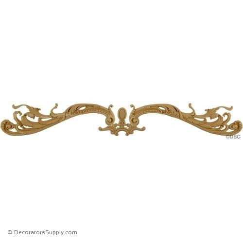 Horizontal Design 4 1/2 High 30 Wide 3/8 Relief-ornaments-for-woodwork-furniture-Decorators Supply