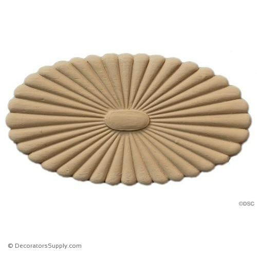 Rosette - Oval    5   3/8 High 3 Wide 1/4 Relief