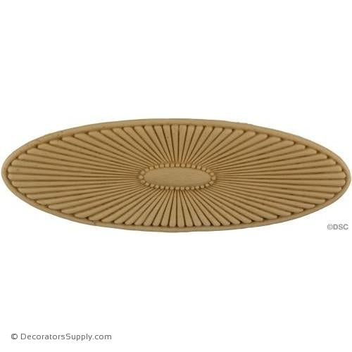 Rosette - Oval    3   3/4 High 11   1/4 Wide 3/8 Relief